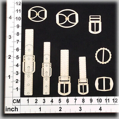 Chipboard Embellishments for Scrapbooking, Cardmaking - Buckles & Belts 11231w