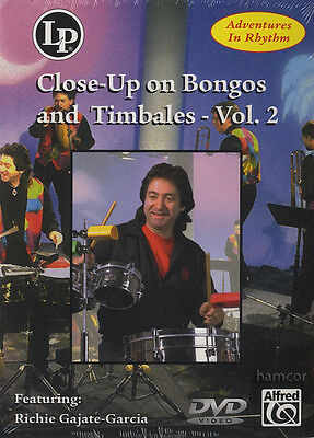 Close-Up On Bongos & Timbales Vol 2 Learn to Play Drum Tuition DVD Latin