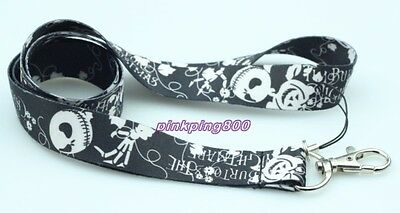 The Nightmare Before Christmas Lanyard Strap For ID Badge Phone Key chain L75