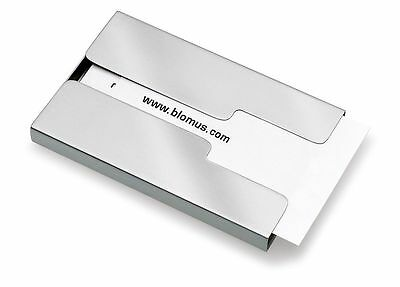 Blomus Sliding Stainless Steel Business Card Holder (Model: 68255)