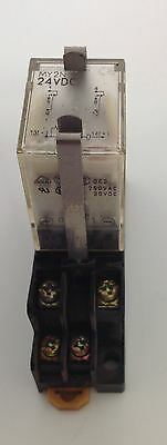 Omron 24Vdc Relay W/ Base Lot Of 10 My4N 101293
