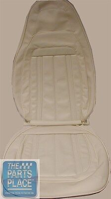 1970 Barracuda Gran Coupe White Front Bucket Seat Covers & Conv Rear - PUI