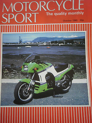 MOTORCYCLE SPORT MAGAZINE 10/85 KAWASAKI GPz750R COVER + ROAD TEST