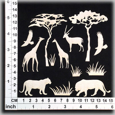 Chipboard Embellishments for Scrapbooking, Cardmaking - Africa 15133w
