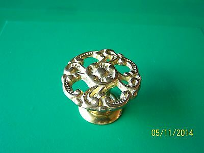 "Antique Style Victorian Drawer Knobs 1 1/2"" Dia. Solid Brass"