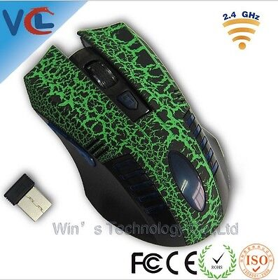 Receiver Optical mouse PC wireless gaming Led mice usb computer 24ghz Laptop new