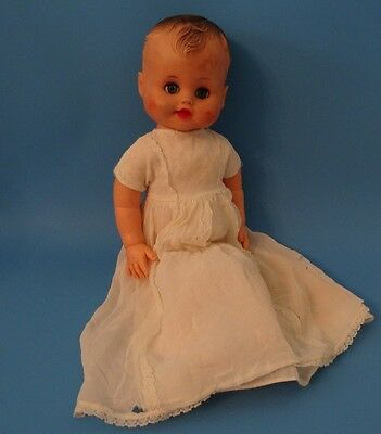 Vintage Baby Doll in Antique Lace Trimmed Gown