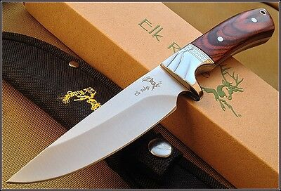 9 Inch Overall Elk Ridge Full Tang Fixed Blade Hunting Knife With Nylon Sheath