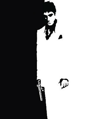Scarface Al Pacino Art Deco Vintage Movie Giant Poster - A0 A1 A2 A3 A4 Sizes