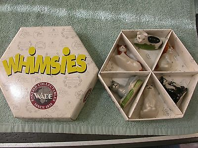 Wade Whimsies Family Pet set of 6 cats in box