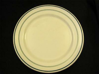 Vintage Shenango China Green Stripe Restaurant Dinner Plate H Lauber Cincinnati