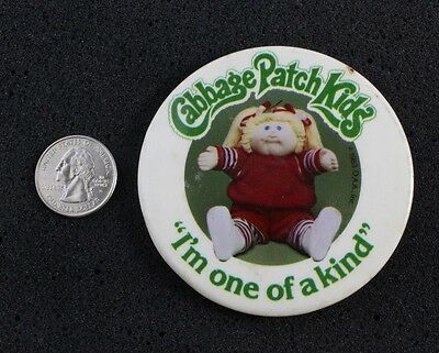 Vtg 1983 Cabbage Patch Kids I'm One Of A Kind Metal Pin Button #9226