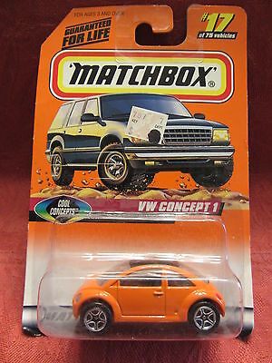 Matchbox  VW Concept 1  Orange  #17  Cool Concepts  1:64 scale  NOC  (5)