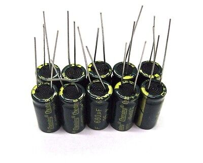 10Pcs Electrolytic Capacitors 35V 680uF Volume 10x20mm 680uF 35V