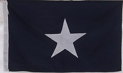 CONFEDERATE BONNIE BLUE FLAG WITH TIES - MADE IN USA - COTTON CIVIL WAR - DIXIE