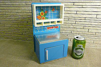 Vintage 1980th.CABINET.Russian Kitchen toy. Made in USSR .(# 58)