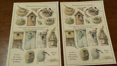 Lot/2 Hallmark Easter Marjolein Bastin Greeting Cards Identical
