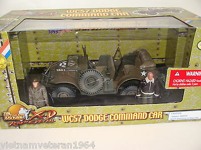 1:18 Ultimate Soldier WWII U.S Dodge WC57 Vehicle w/ Gral Patton Driver figure