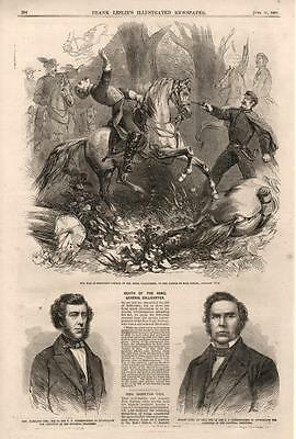 Death of The Rebel General Zollicoffer at Mill Spring  -  Civil War  - 1862