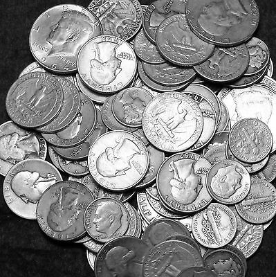 1/2 OZ US 90% SILVER COIN LOT- NO CLAD,CULLS OR SILVER NICKELS - FREE SHIPPING-