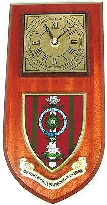 Pow Own Regiment Of Yorkshire Classic Style Hand Made To Order  Wall Clock