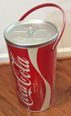 """Vintage 1970s COCA COLA COKE CAN Shaped  Cooler Ice Bucket 15"""" Tall"""