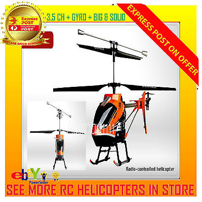 3.5Ch Gyro Rc Helicopter Remote Control Toy Udi U7 Big 75Cm Easy Ready To Fly