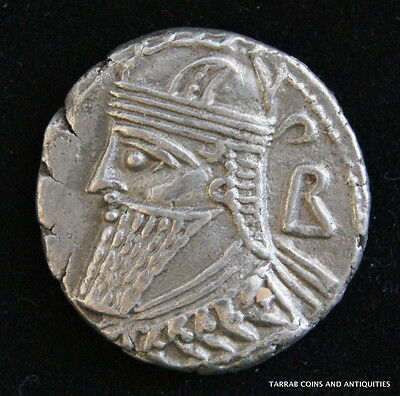 Ancient Parthian Kingdom; Vologases Iv 147-191 A.d. Silver Tetradrachm; Choice!