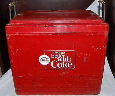"""1964 Vinage Progress Refrigerator Coca Cola Cooler """"Things Go Better with Coke"""""""