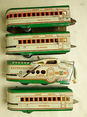 MARX #M10005 UNCOMMON PRE-WAR STREAMLINE UNION PACIFIC WINDUP CLOCKWORK SET-VG!