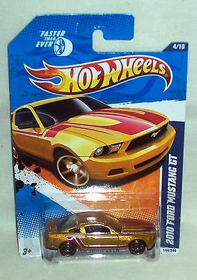 Hot Wheels 2011 FASTER THAN EVER 2010 Ford Mustang GT 4/10 #144