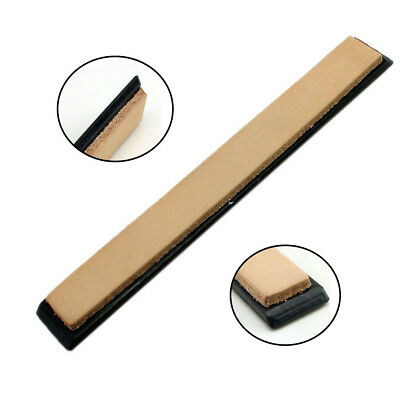 Leather Strop With Base Hone Finer Polishing Sharpening For Sharpener System