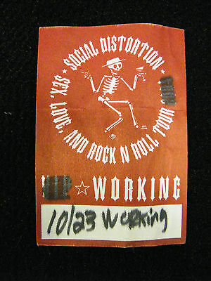 Social Distortion Sex,love,and Rock N Roll Tour Working Backstage Pass