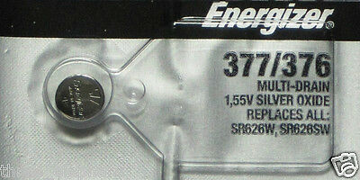1 NEW ENERGIZER SR626SW 377/376 Silver Oxide 1.55v Watch Batteries Aussie Stock