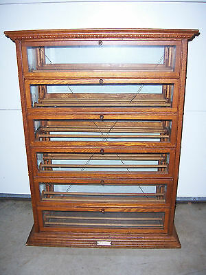 A. N. Russel & Sons NY Late 19th Century Antique Store Ribbon Display Cabinet