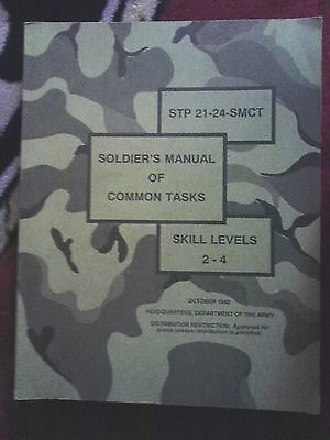 Soldier's Manual of  Common Tasks Skill levels 2,3, and 4 Vintage 1992