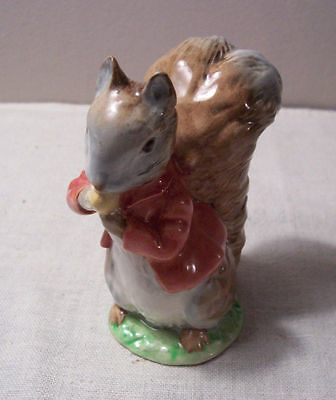 """Beswick Beatrix Potter """"TIMMY TIPTOES"""" Figurine Bp2a Gold Oval Very RARE!"""