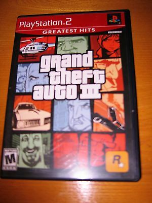Play Station 2 Grand Theft Auto III Greatest Gifts  With Book + Free Shipping