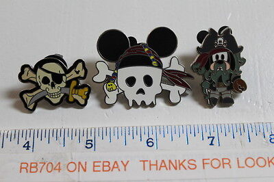 WDW Disney lot of 3  Pirates of the Carribean Pins