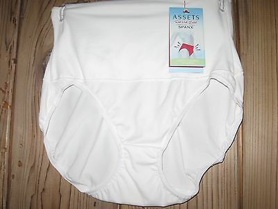 Assets by Spanx White Cheeky Control Hi Cut Brief Style:1697 Size: Small NWT