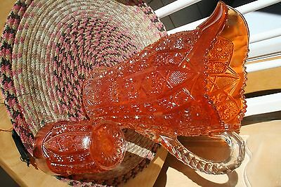 ANTIQUE IMPERIAL CARNIVAL GLASS OCTAGON WATER PITCHER & TUMBLER