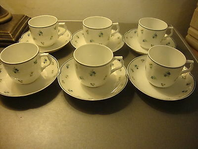 KAISER MADELEINE SET OF SIX DEMI TASSE COFFEE CUPS & SAUCERS NEW CONDITION