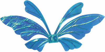 Morris Costumes Adult Unisex Tail Opal Blue Iridescent Wings. FW90560BU
