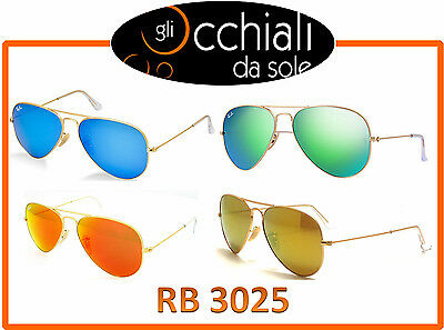 Ray Ban 3025 Aviator Large Metal, occhiali da sole Specchiati
