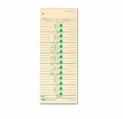 TOPS Time Card for Acroprint IBM Lathem and Simplex Weekly 3-1/2 x 9, 500 Perbox