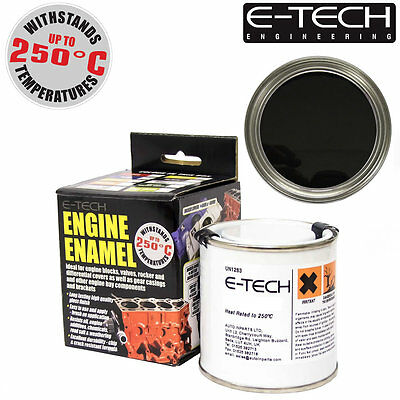 E-Tech BLACK Heat Resistant Engine Enamel Paint 250ml **NEW** High Temp