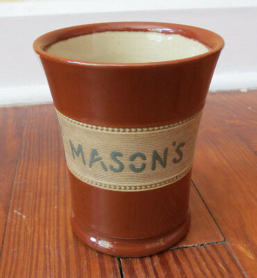 Good ! It's Masons - Antique Advertising Cup Mug - Langley Pottery