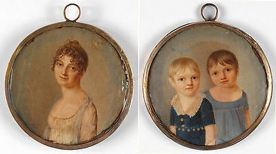 C. Frederick (active in early 19th century), double-sided miniature, 1803