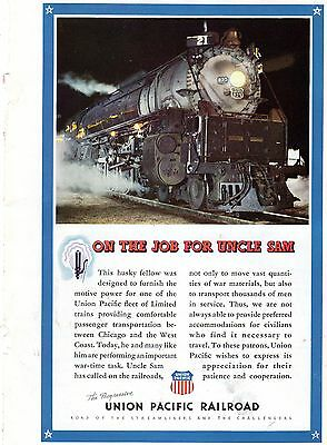 """Lot of 3 Vintage 1941-42 UNION PACIFIC full-page magazine ads original 7-10"""""""