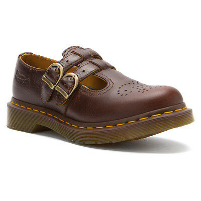 Dr. Martens Women`s Double Strap Mary Jane 8065 Brown Harvest Smooth ALL SIZES